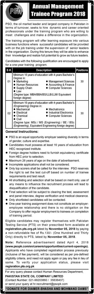 Current Job Openings | Pakistan State Oil